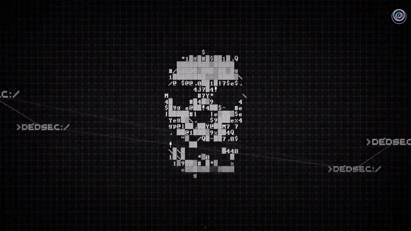 The Dedsec logo featured in the revelation trailer 1366x768
