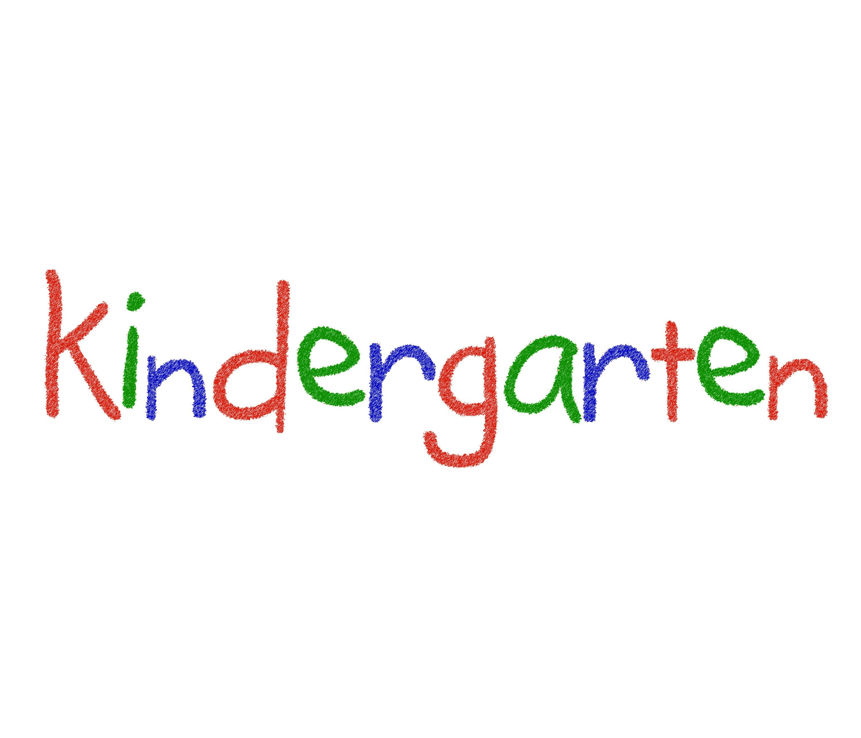 image of The word Kindergarten in bright colours 3000x2571