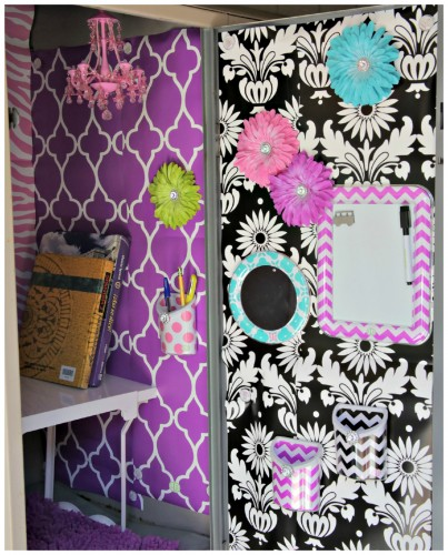 Locker Wallpaper Diy: Magnetic Locker Wallpaper Staples