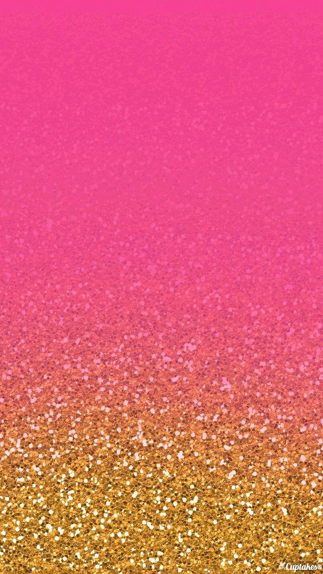 Smartphone: black and gold glitter wallpaper