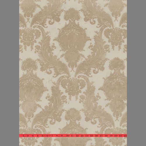 50 velvet flocked wallpaper on wallpapersafari - Cream flock wallpaper ...