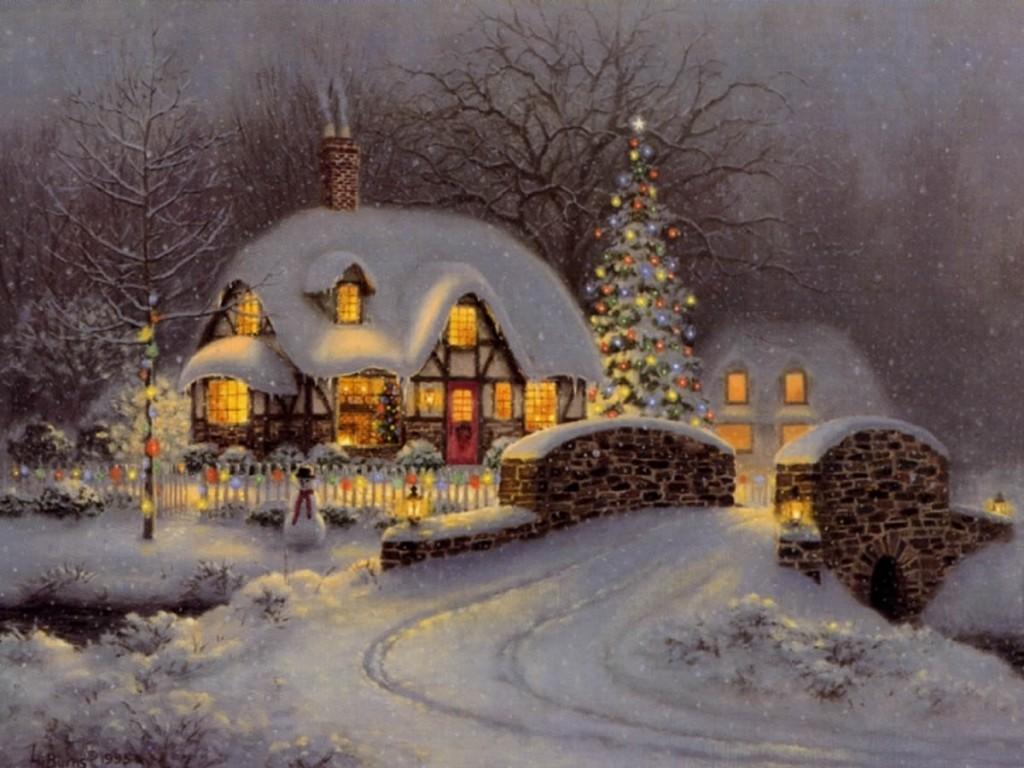 Free Christmas Scenes Wallpaper - WallpaperSafari