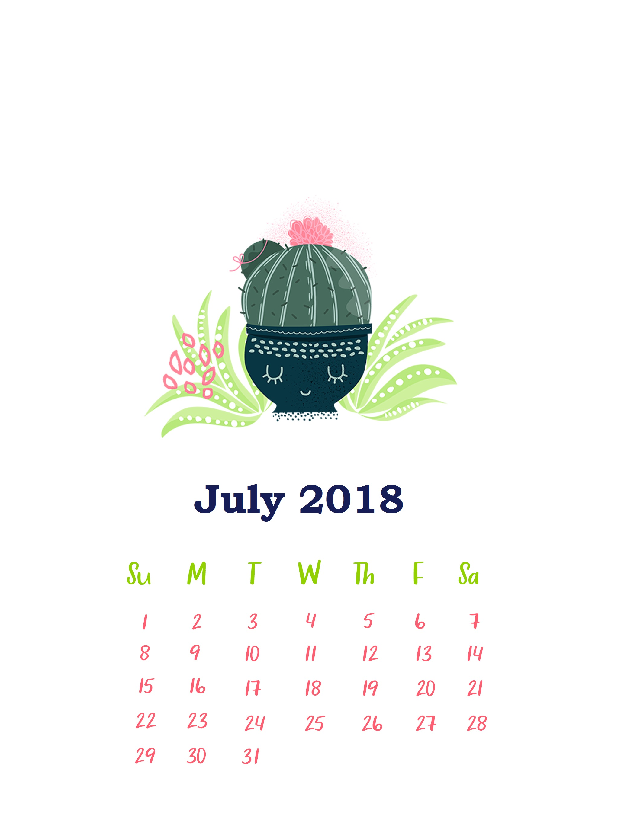 Download July 2018 iPhone Calendar Wallpapers Calendar 2018 2056x2726