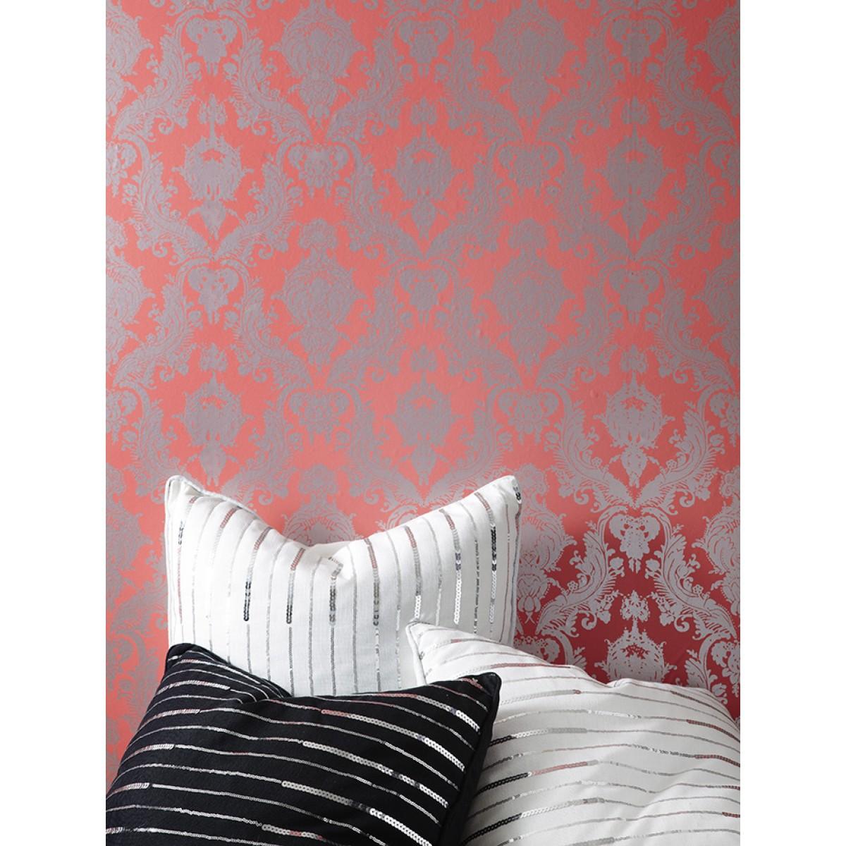 Tempaper DAMSEL Coral Wallpaper   Tempaper Designs 1200x1200