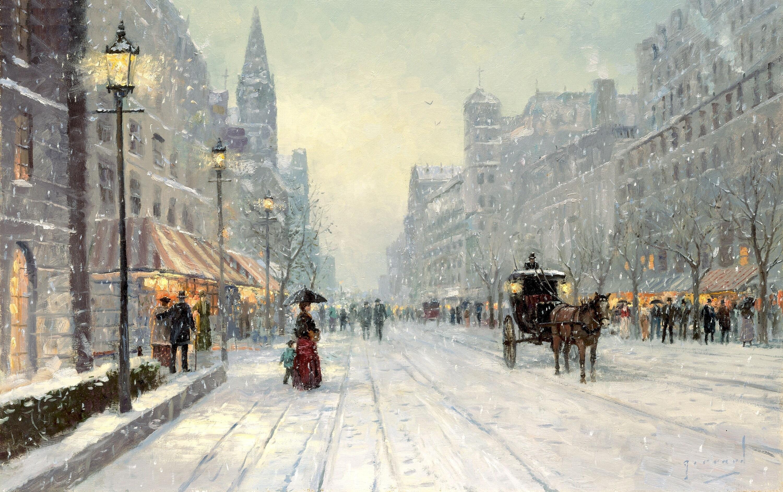 Winter in Ekaterinburg Winter On 7th Avenue in New York wallpaper 3000x1885