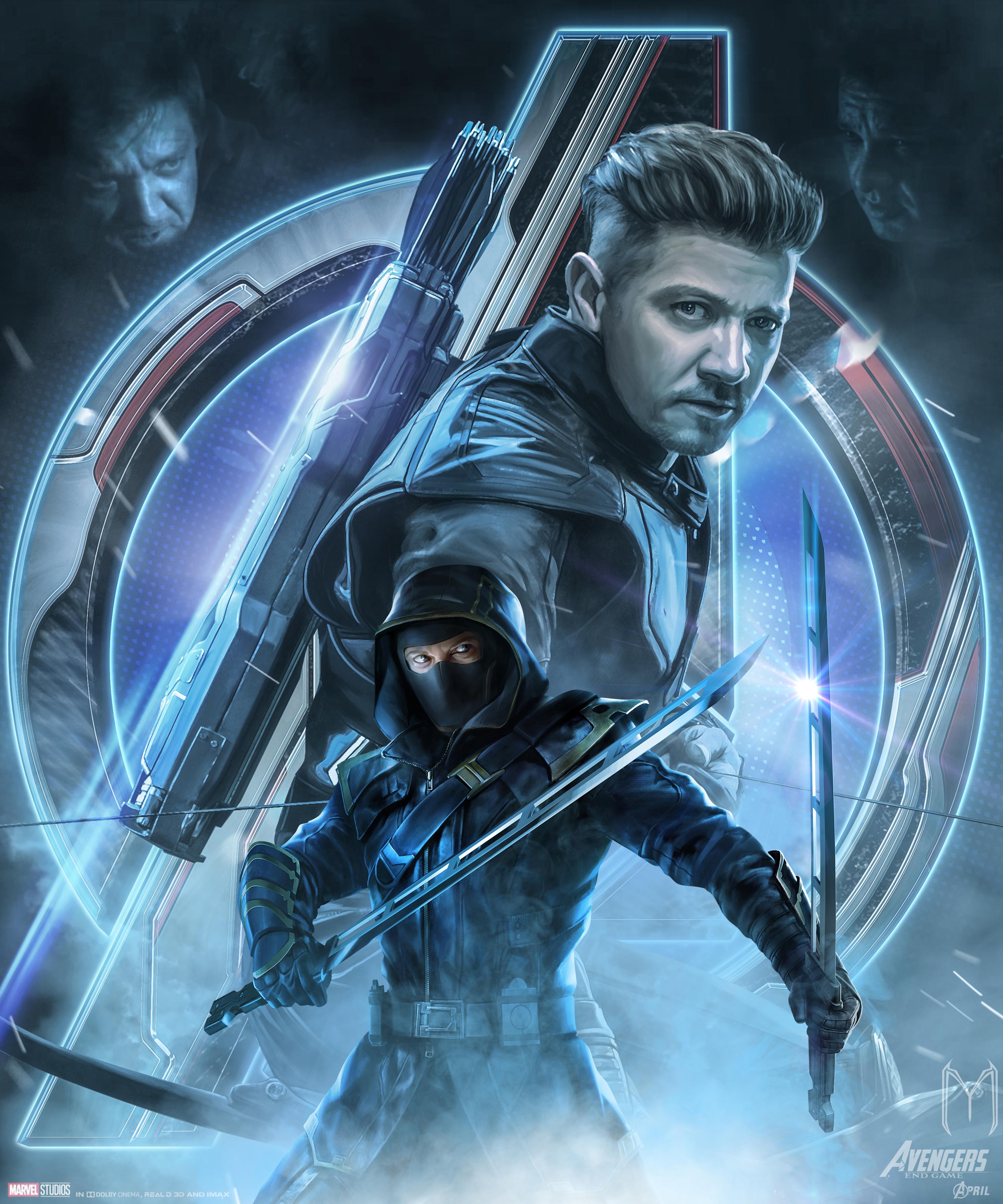 Avengers Endgame Ronin Hawkeye Poster Key Art Wallpaper HD Movies 3000x3600