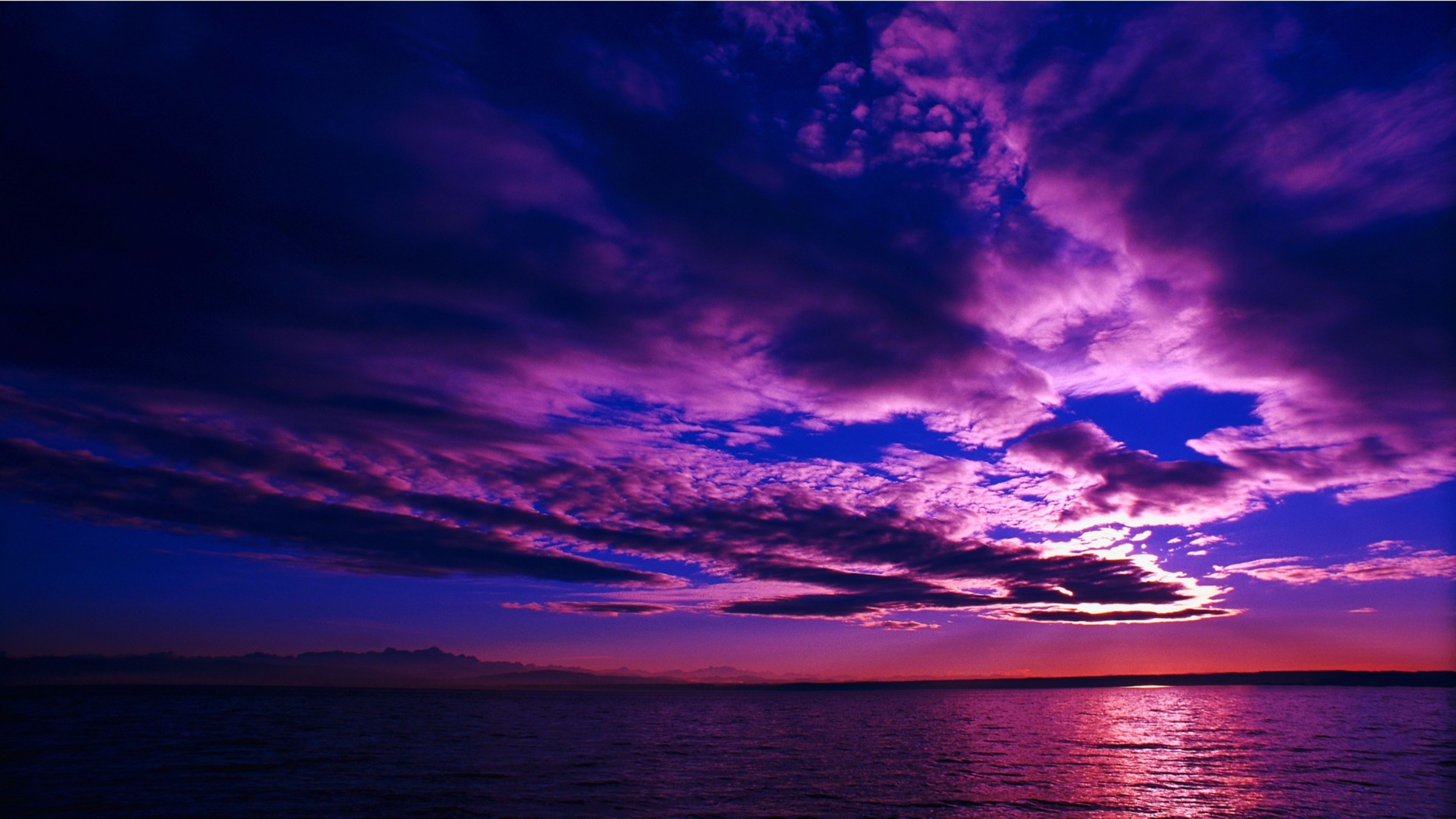 Purple Sky 4K Sunset Wallpaper 4K Wallpaper 3840x2160
