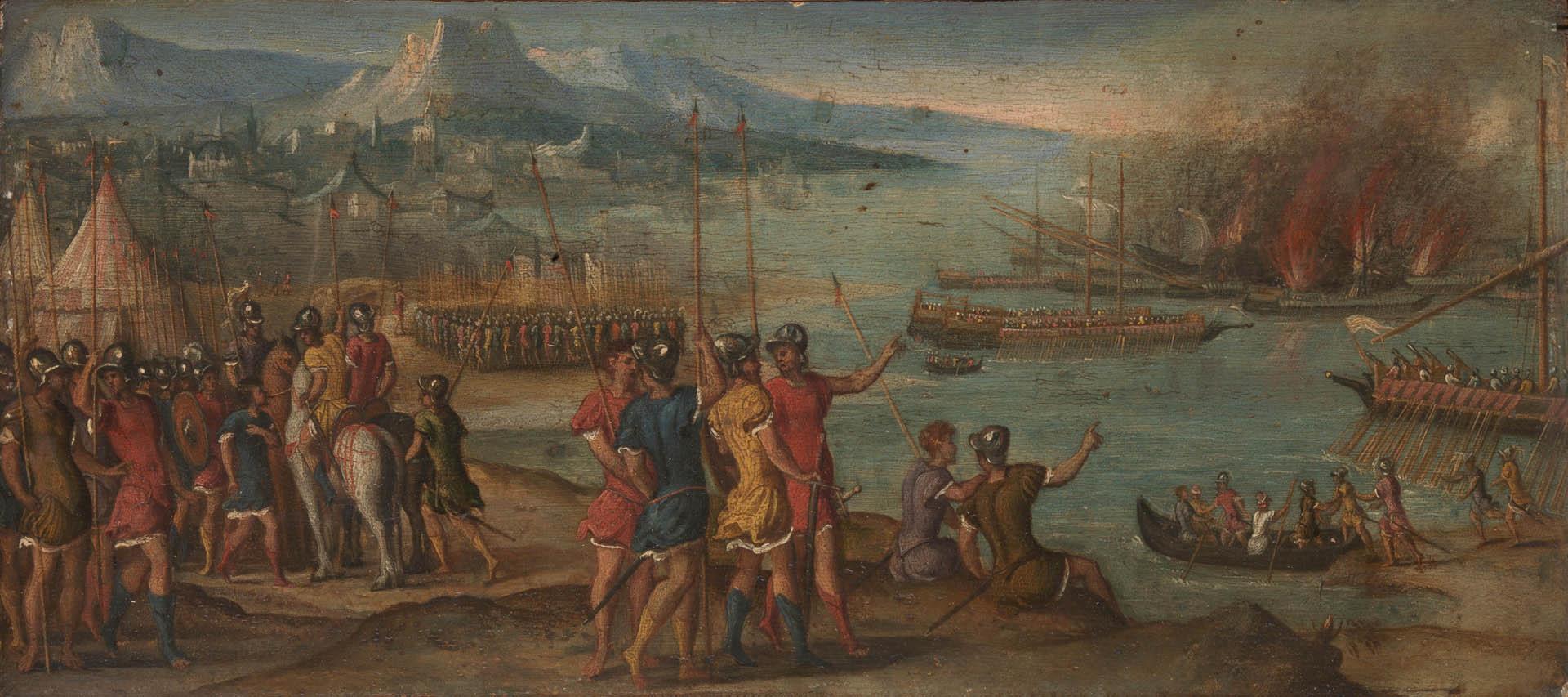 Naval Battle   A italian renaissance venetian art wallpaper picture 1920x853