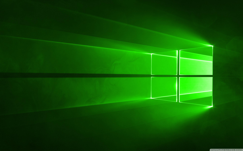 Windows 10 Green 4K HD Desktop Wallpaper for Wide Ultra 2880x1800