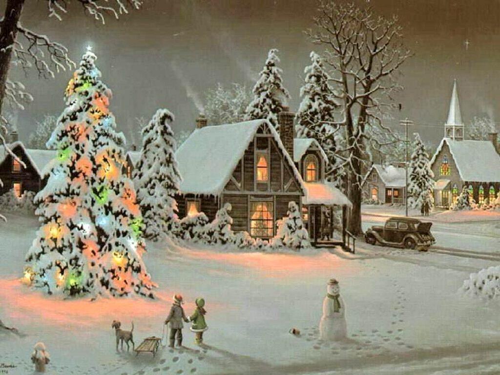Christmas Scene   Christmas Wallpaper 9272952 1024x768