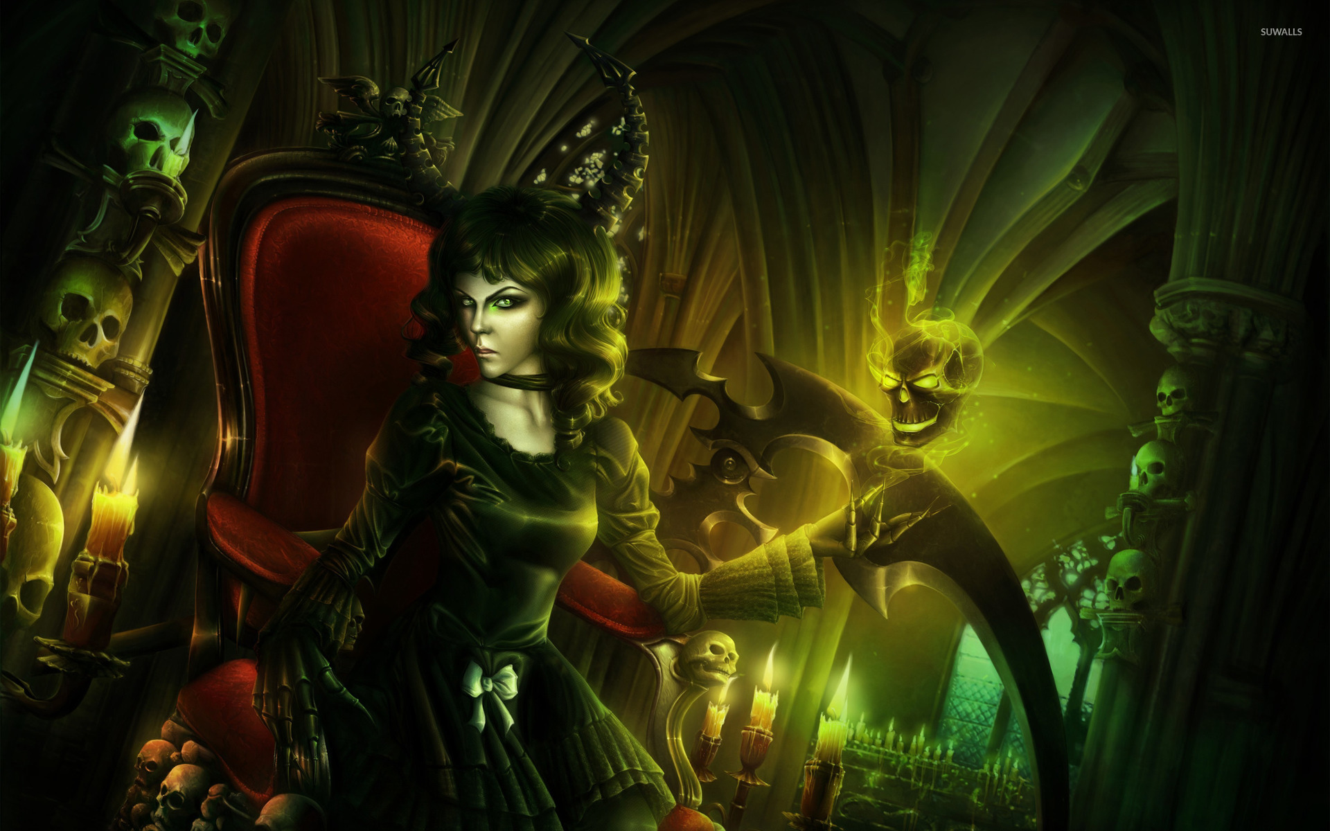 Evil witch wallpaper   Fantasy wallpapers   23246 1920x1200