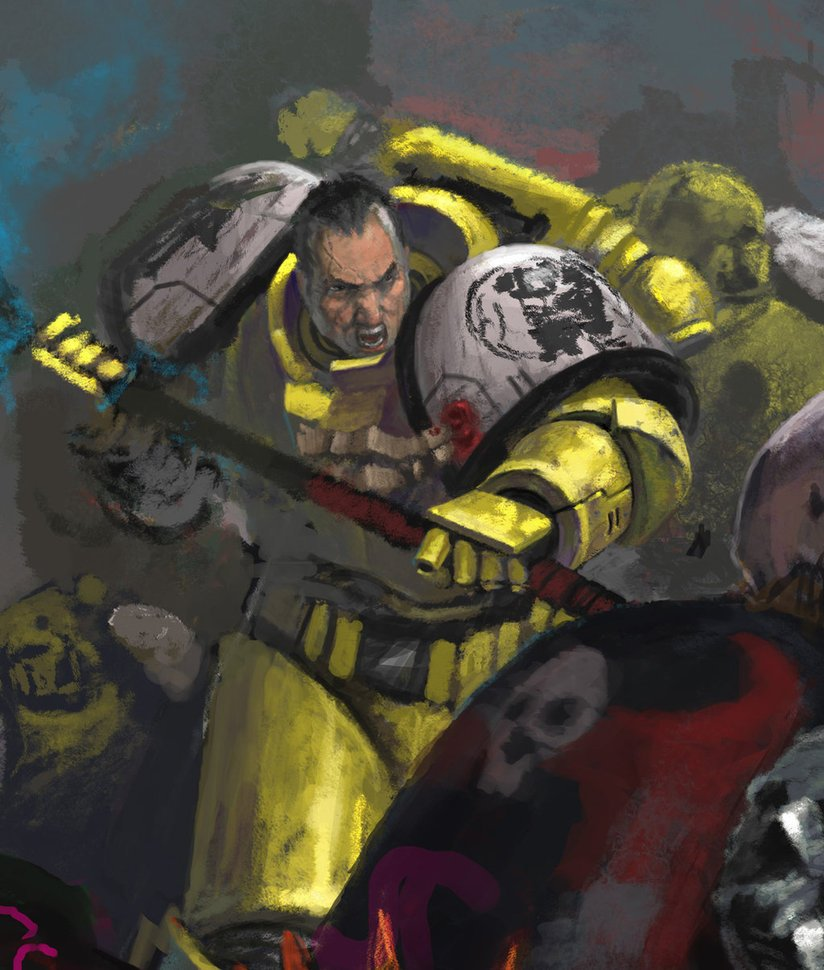 Imperial Fist sketch by DiegoGisbertLlorens 824x970