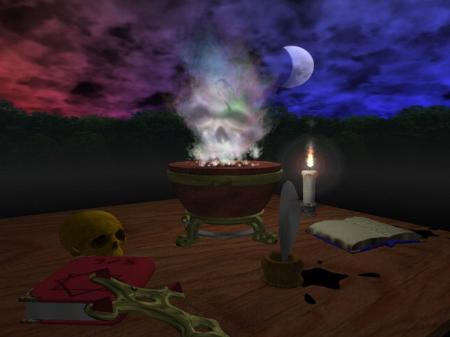 3D Screensaver shows you an ancient alchemy lab complete with mystic 640x480