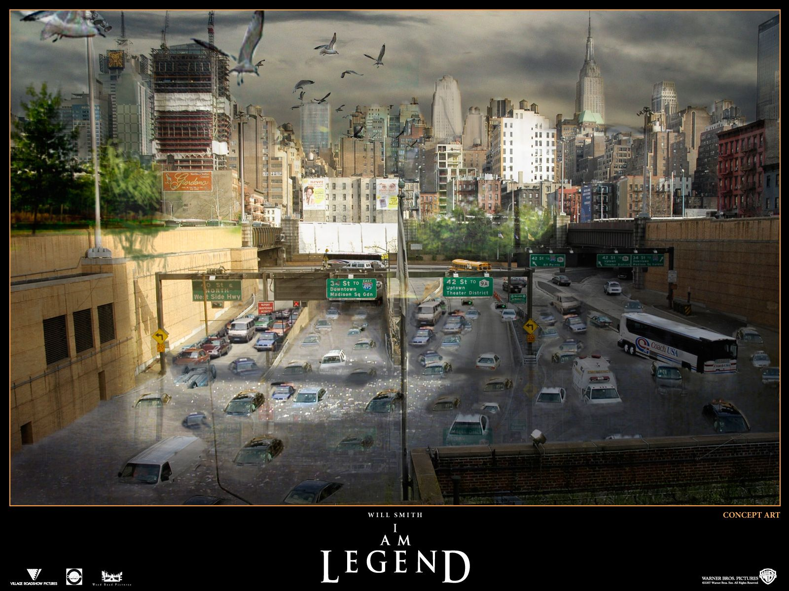 Concept Art   I Am Legend Wallpaper 504226 1600x1200