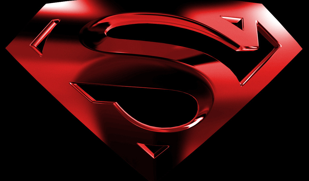 cool superman logo wallpaper wallpapers55com   Best Wallpapers for 1024x600