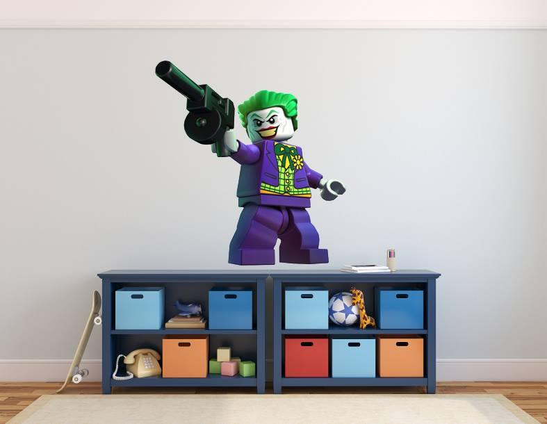 FULL COLOUR LEGO JOKER BATMAN BOYS BEDROOM WALL STICKER DECAL GRAPHIC 787x610