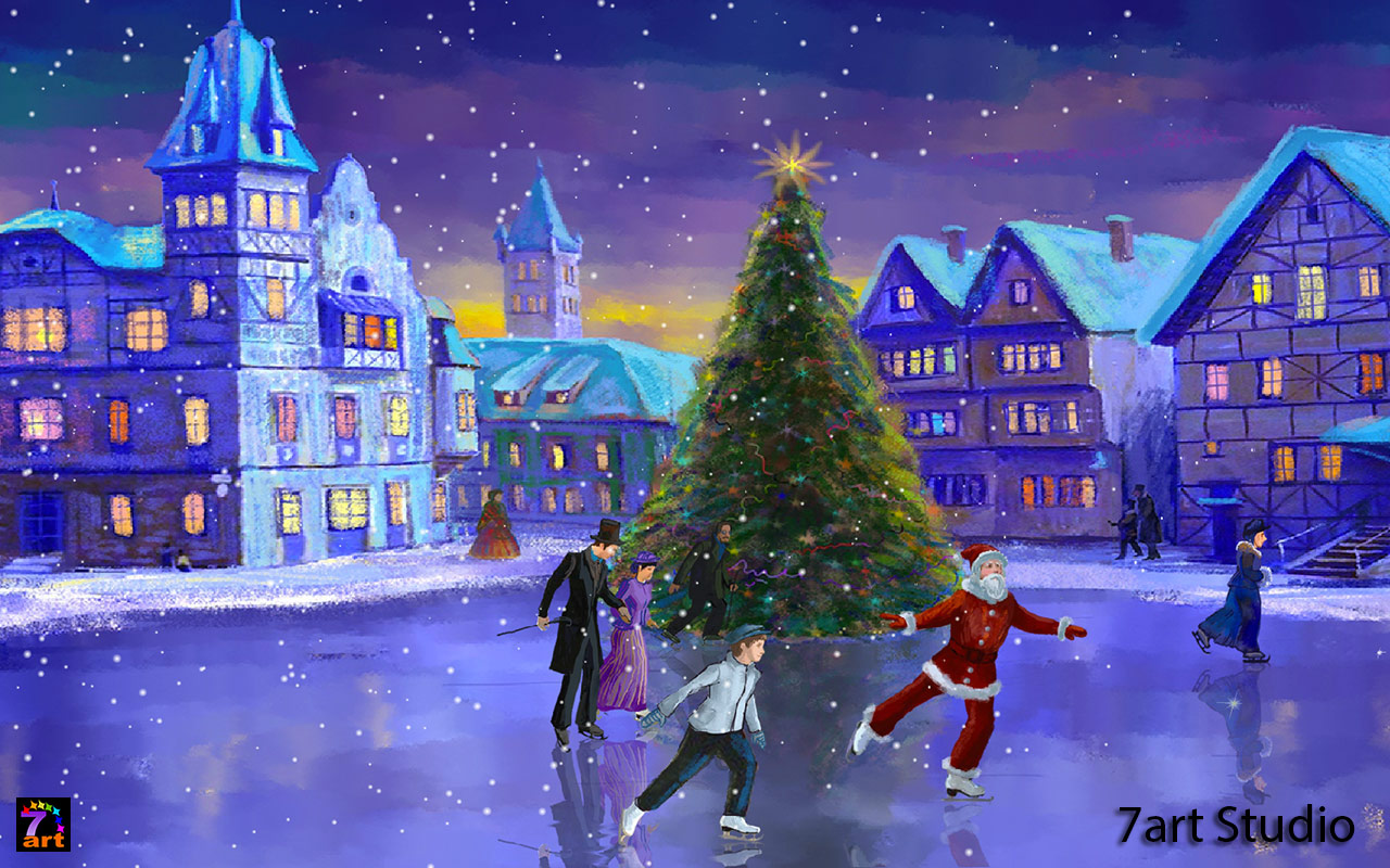 Christmas tree is shining with festive moods Bring the Christmas 1280x800