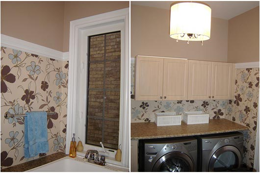 laundry wallpaper design ideas pictures remodel and toile wallpaper 530x353