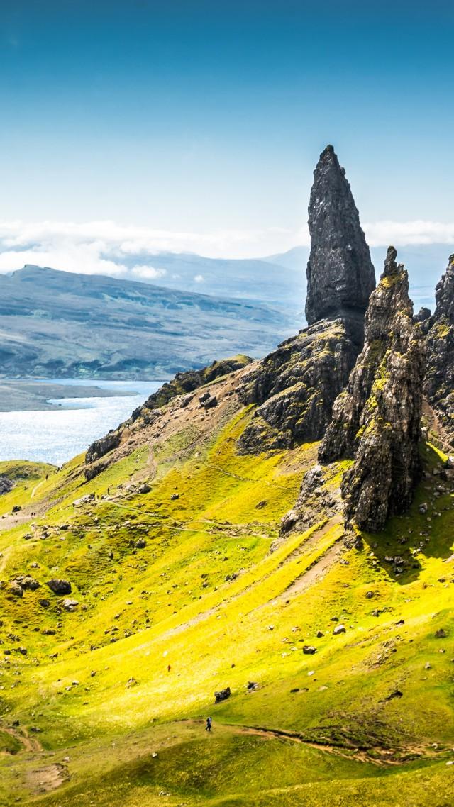 Wallpaper Isle of Skye Scotland Europe nature travel 8k 640x1138