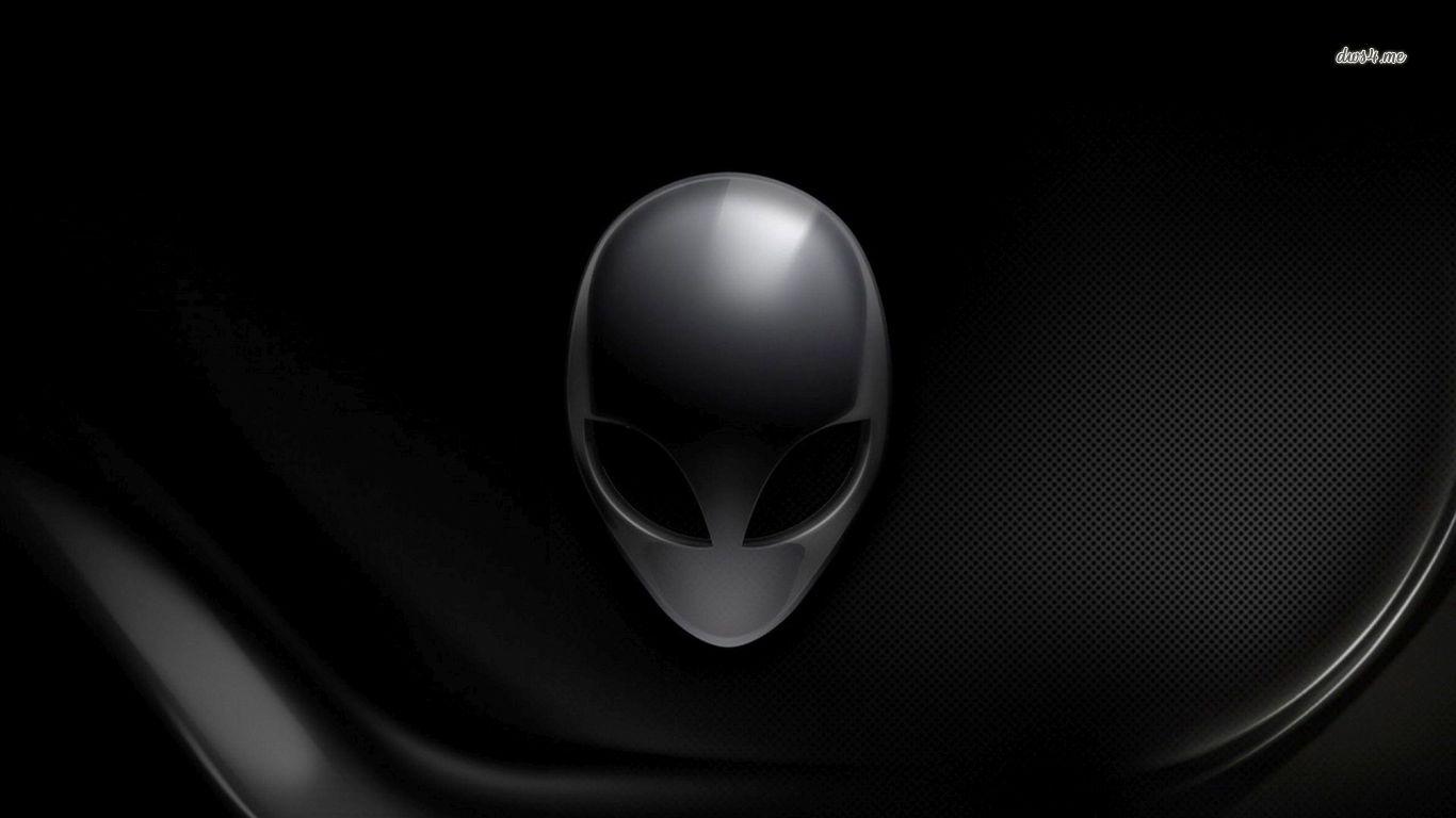 Black Alienware wallpaper   Computer wallpapers   28531 1366x768