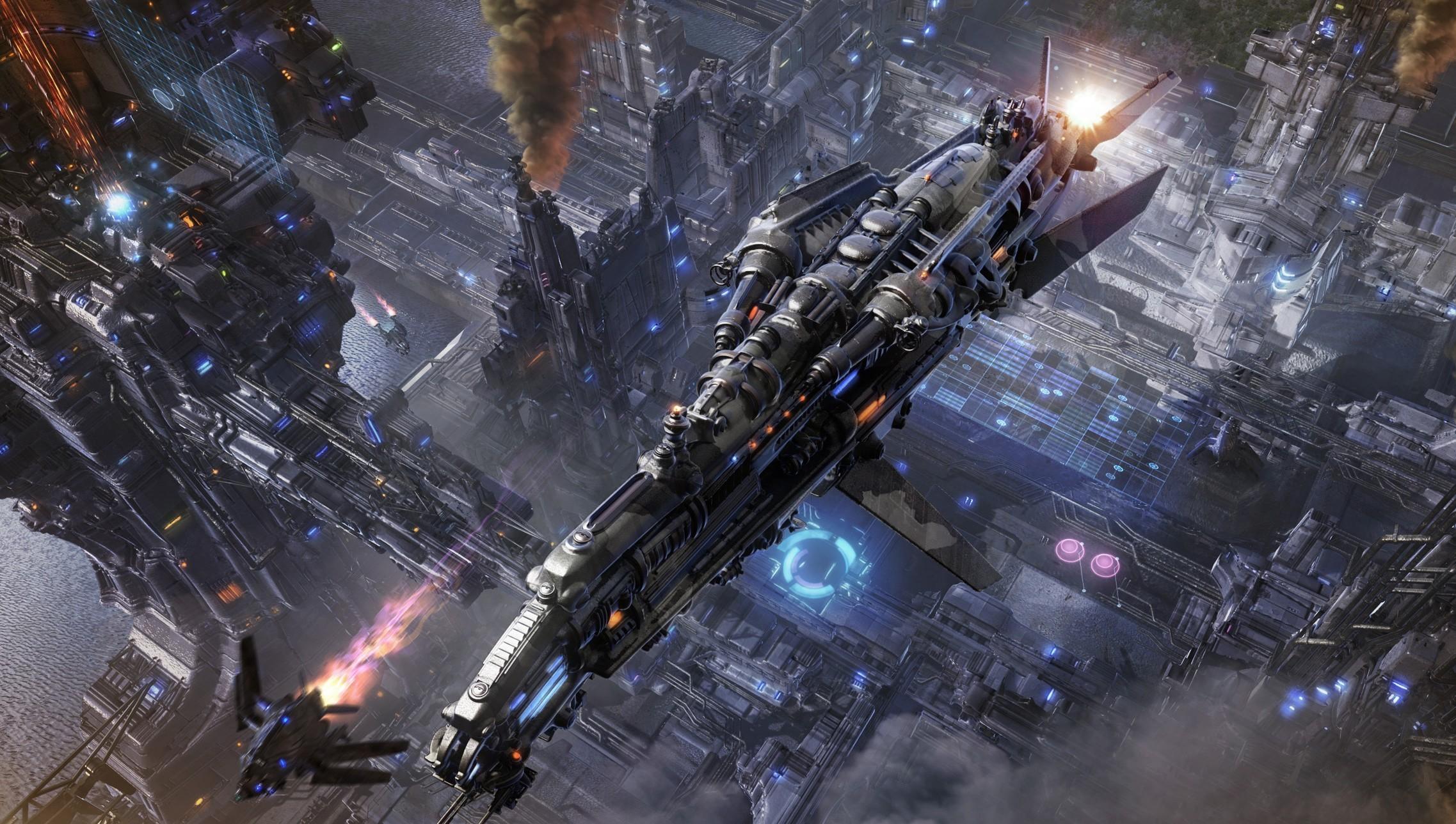 Sci Fi   Spaceship Wallpaper 2275x1289