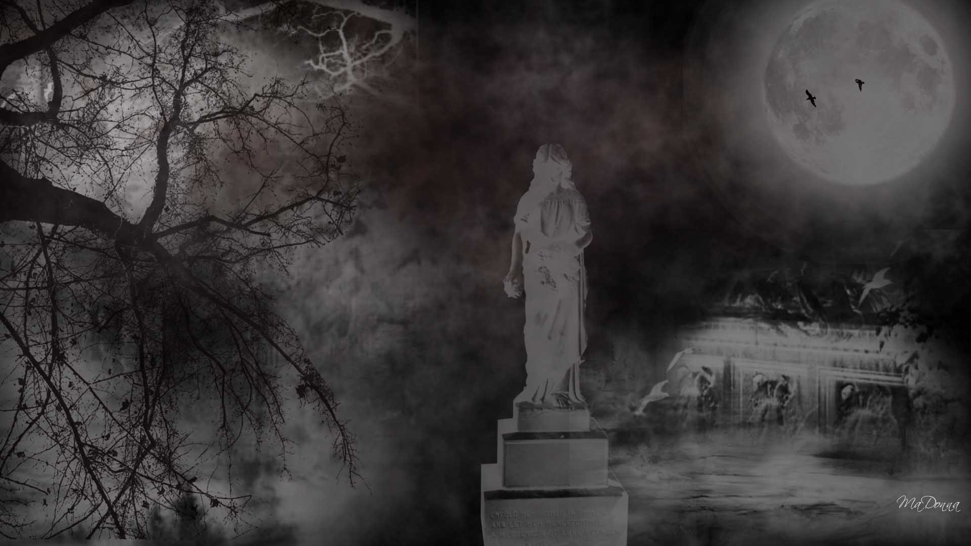 Creepy Graveyard Wallpaper - WallpaperSafari