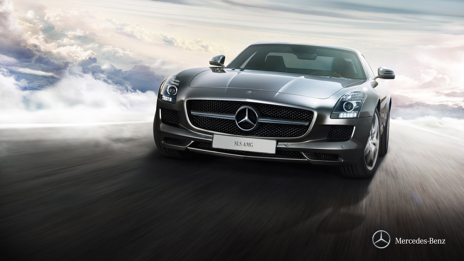 mercedes benz front sls wallpaper cars 1920x1080