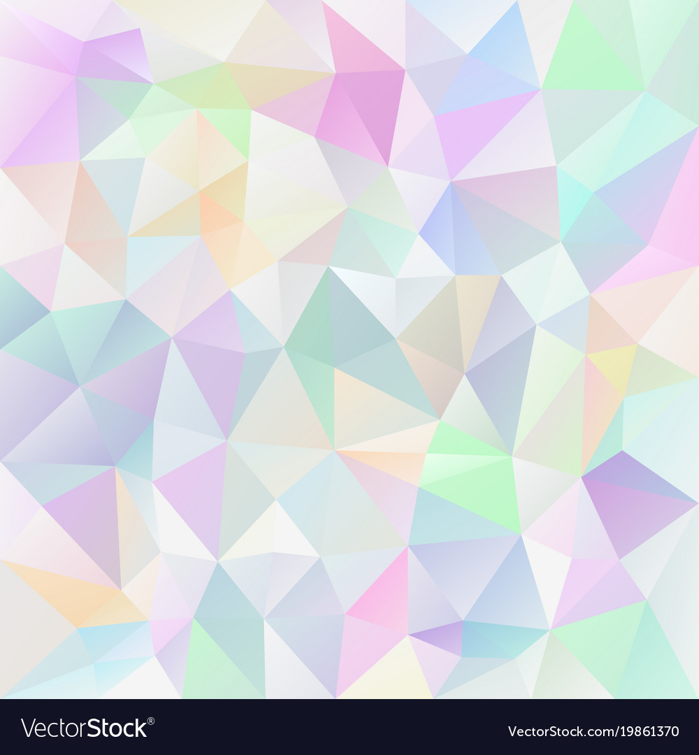 Polygonal square background pastel variegated Vector Image 1000x1080