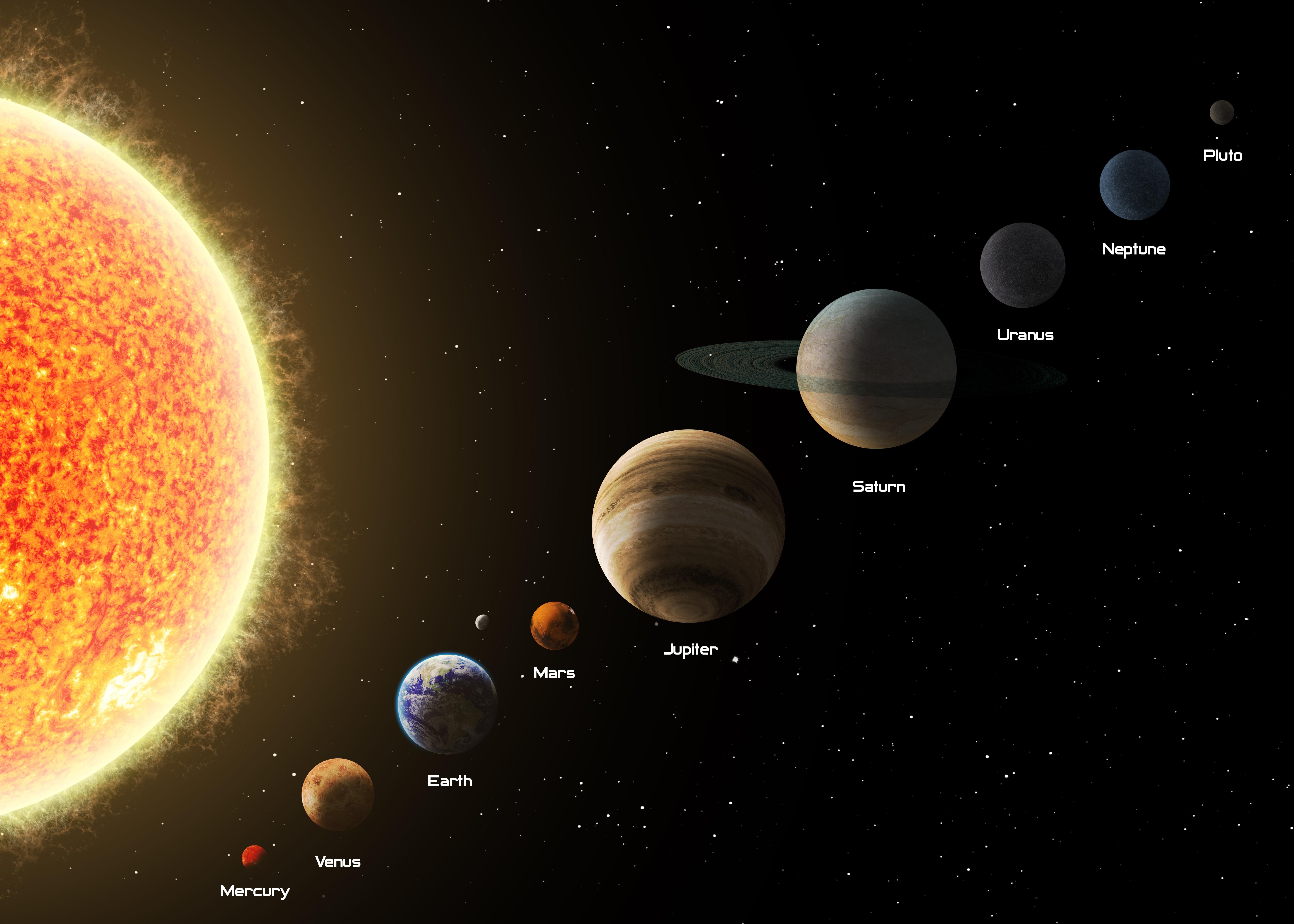4547805 Neptune Earth Pluto space Jupiter Sun Venus 7000x5000
