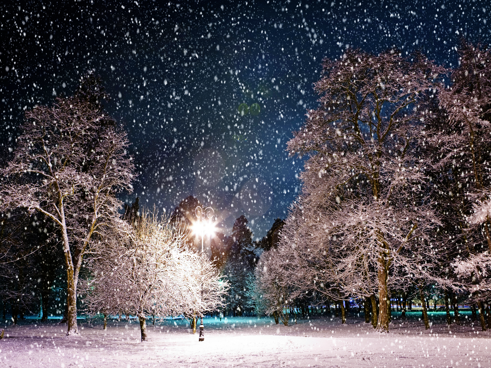 Snowy Night Background   HD Wallpapers Blog 1600x1200