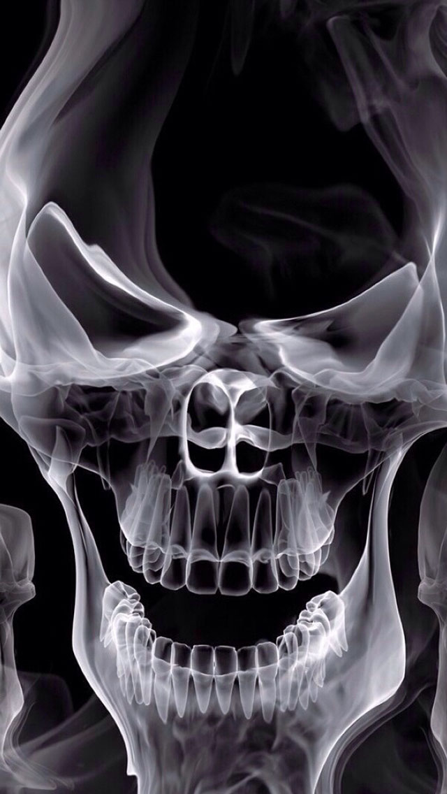 Skull X ray Wallpaper   iPhone Wallpapers 640x1136