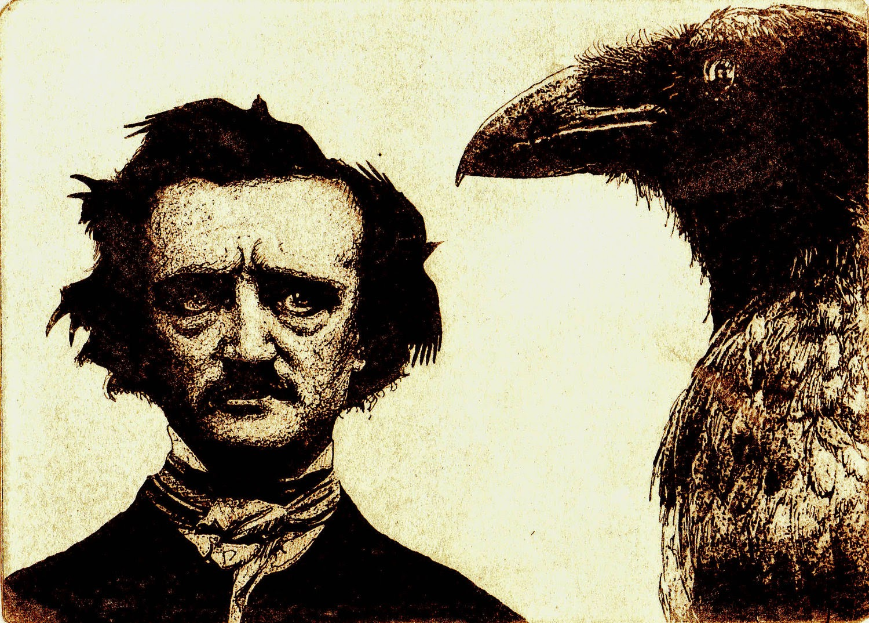 Poema O corvo de Edgar Allan Poe Filosofia Agressiva 1500x1074