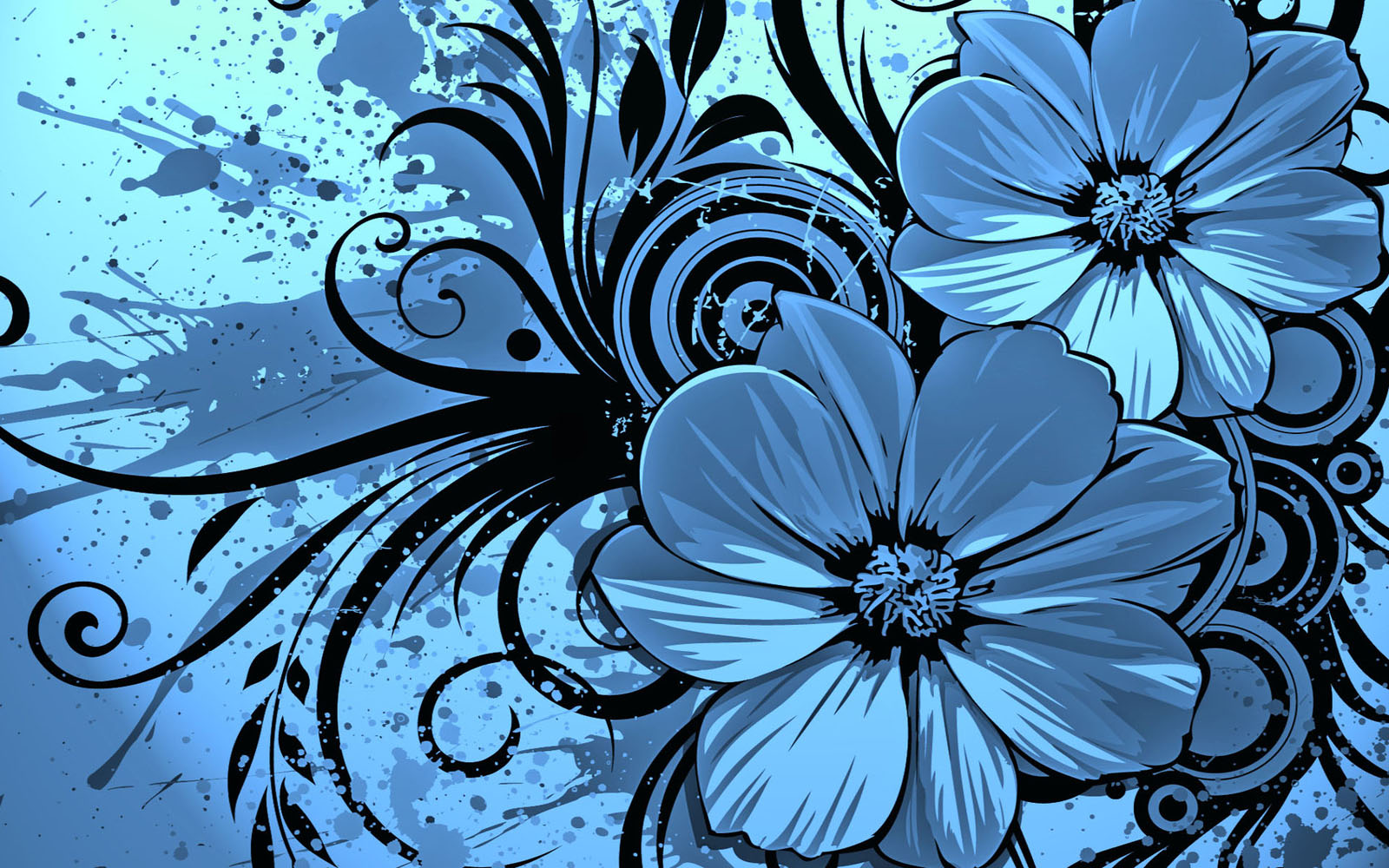 Vector Flowers Desktop Wallpapers   Top Wallpaper Desktop 1600x1000