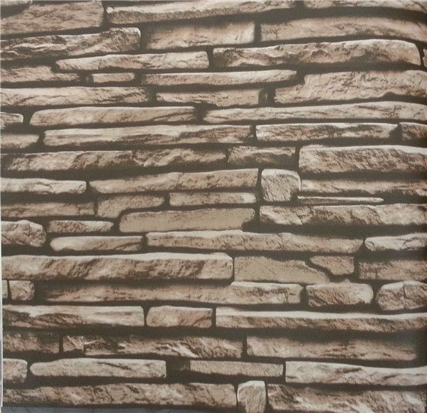 10m 3d Stacked Brick Stone Embossed Texured Tv Wall Pvc Wallpaper 600x580