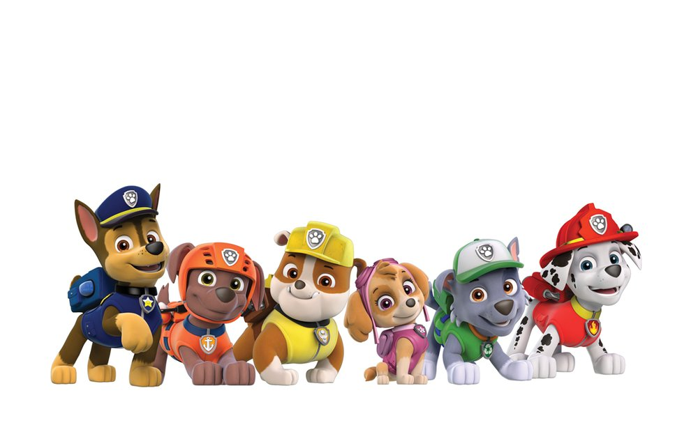 It is a photo of Geeky Paw Patrol Borders