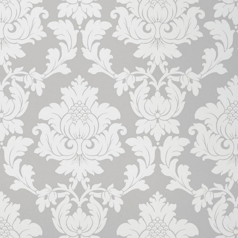 Price search results for HB FW Regency Damask Wallpaper Silver 800x800