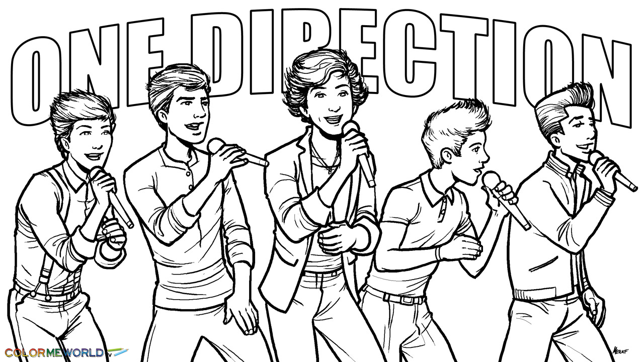 one direction coloring pages cartoon animals | Coloring Page Wallpaper - WallpaperSafari