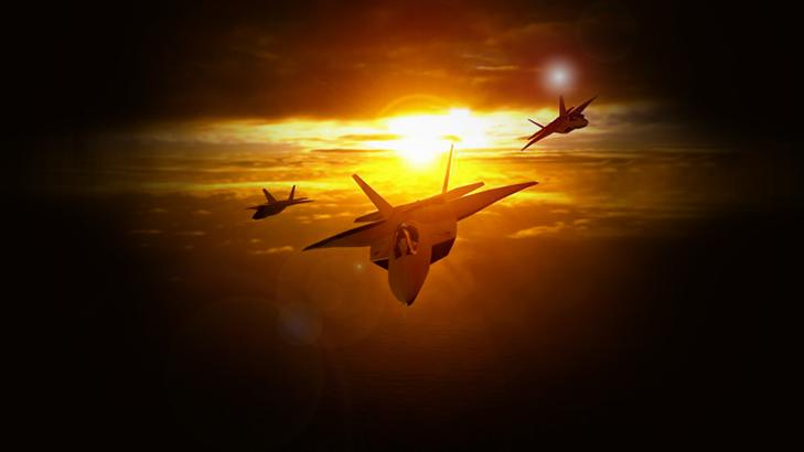 F22 Wallpaper Sunset F 22 at sunset 729x410