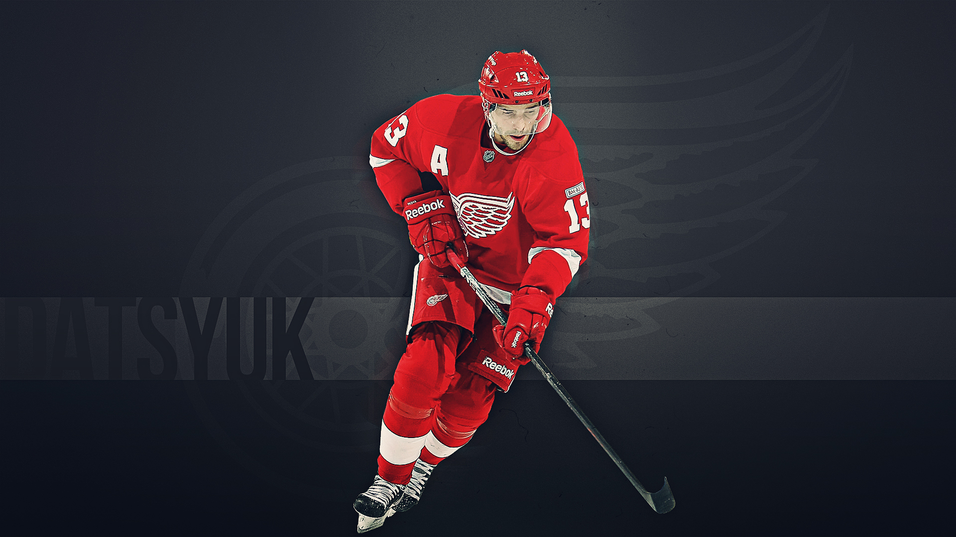 Best Hockey player of Detroit Pavel Datsyuk wallpapers and images 1920x1080