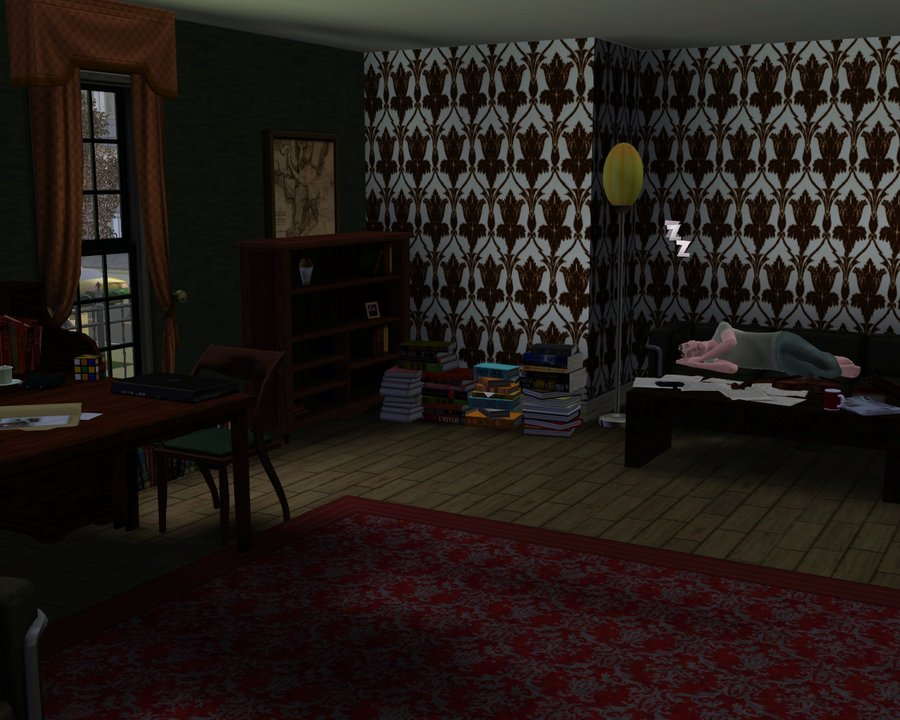 Bbc Sherlock 221b Wallpaper In The Sims 3 900x720