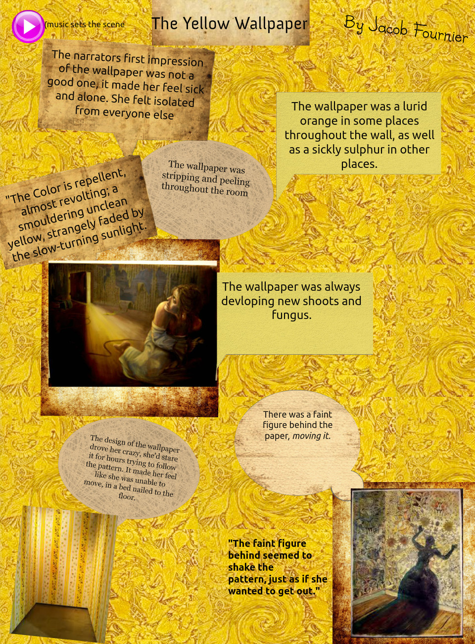 American Literature The Yellow Wallpaper Assignment Jacob F by 960x1300