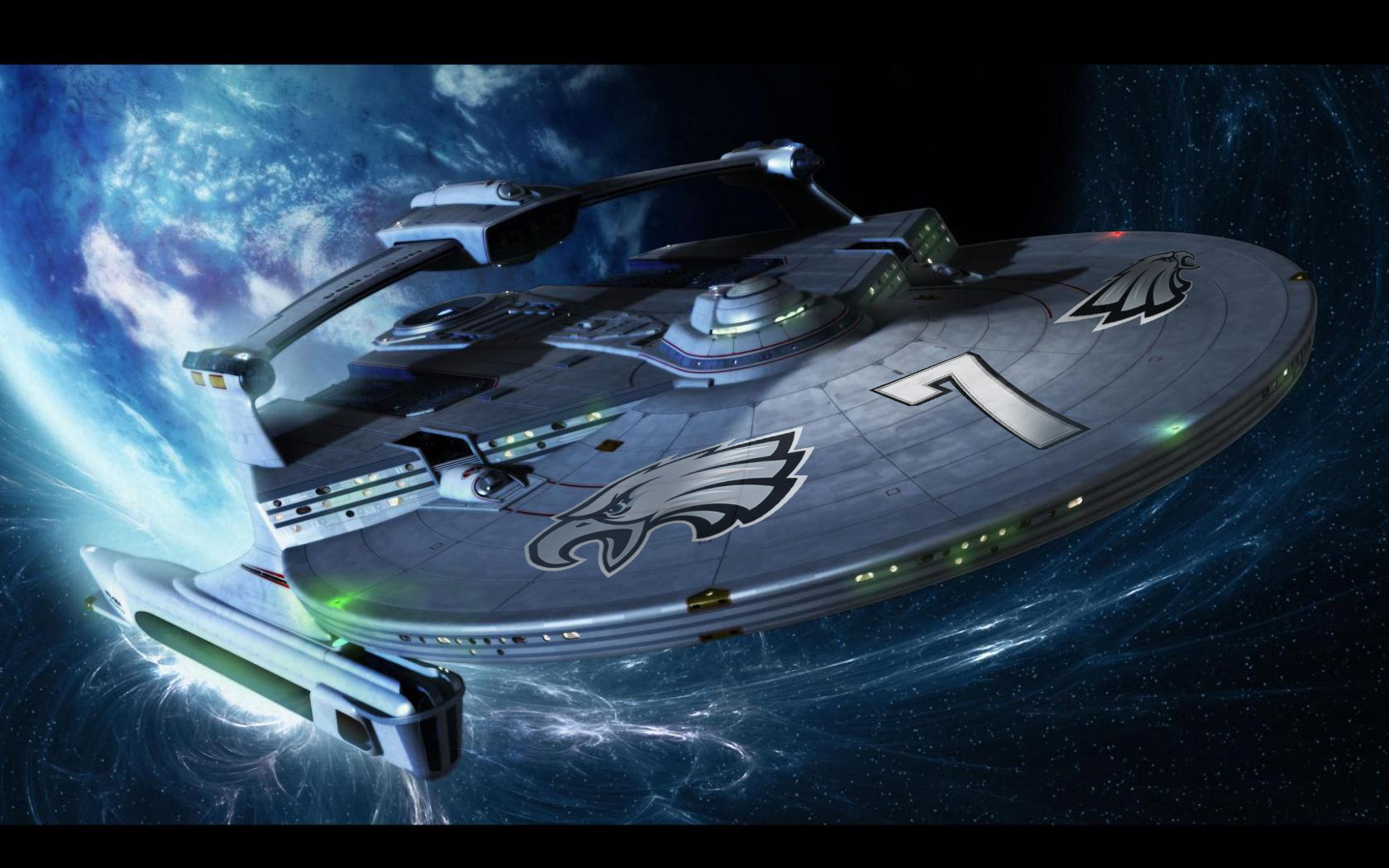 Michael Vick Starship 7 image created by Eagles fan Mike Cessario 1680x1050