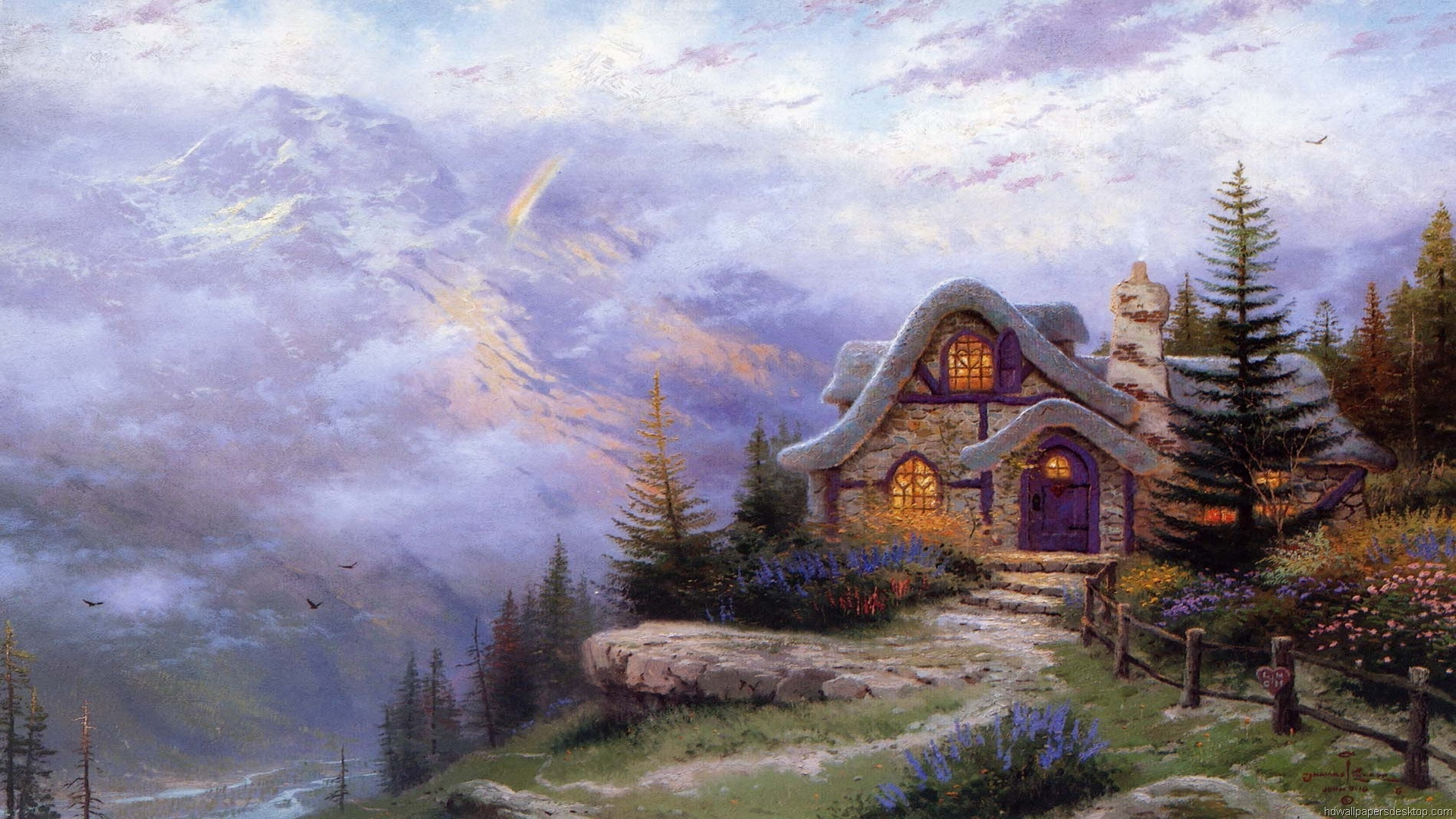 thomas kinkade wallpaper 1920x1080 - photo #30