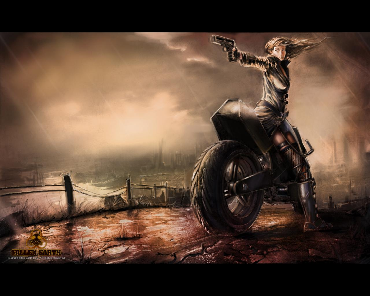 Chick On Bike Wallpaper  WallpaperSafari