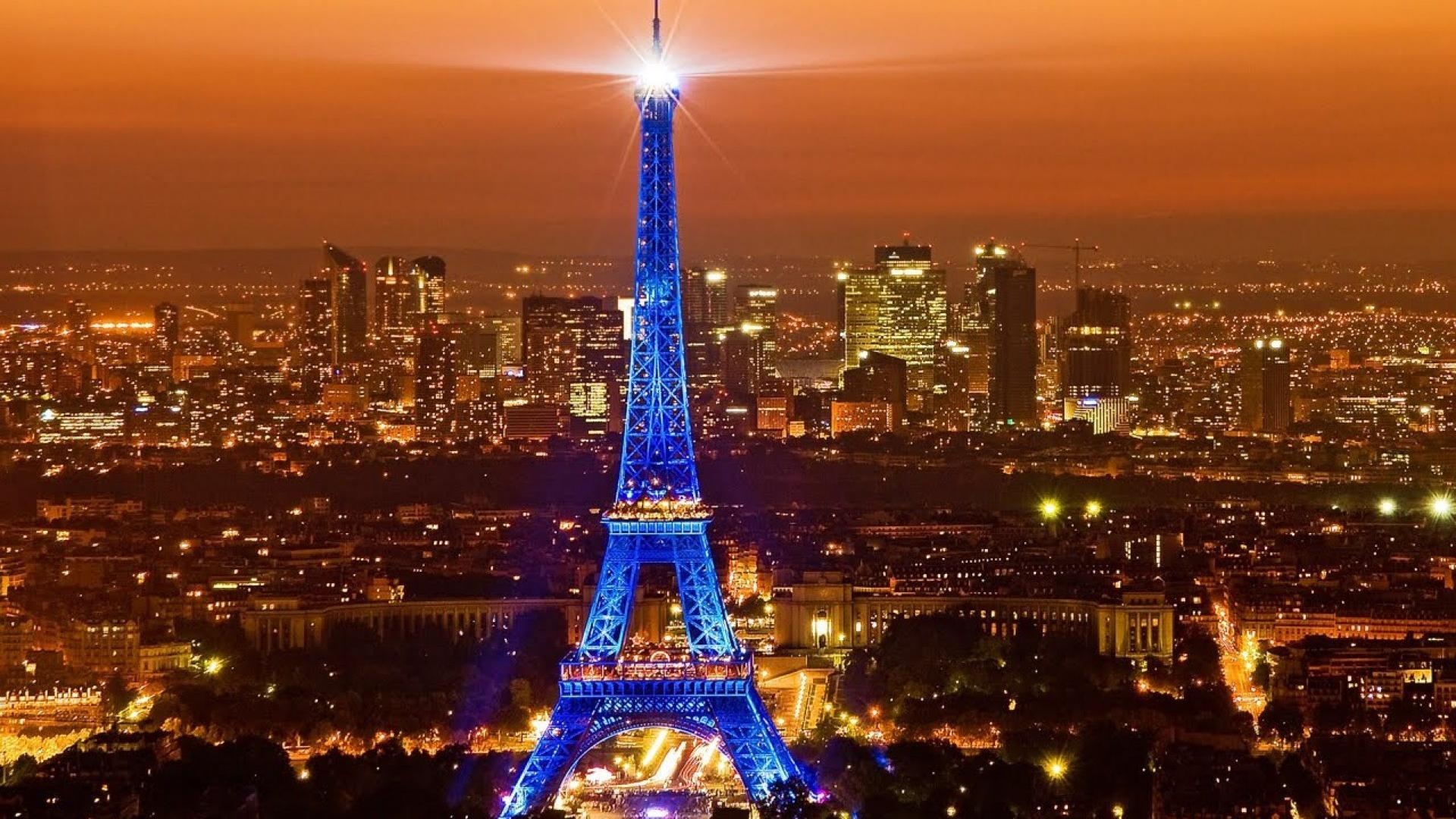 Paris city night wallpaper 81910 1920x1080