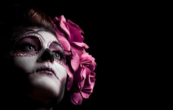 sugar skull makeup wallpaper - photo #9