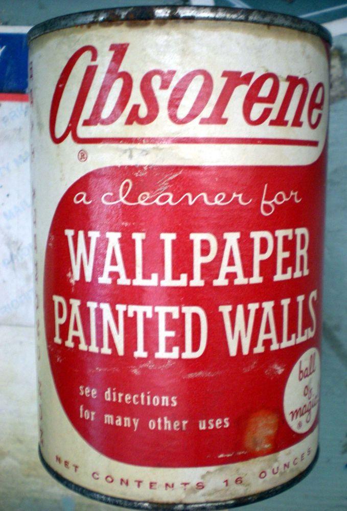 Vintage Retro 1956 Absorene Wallpaper Cleaner Tin Unopened eBay 679x1000