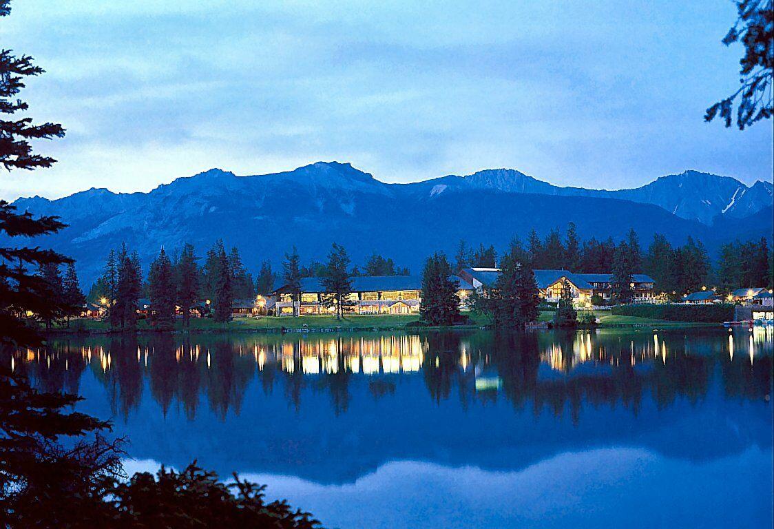 Canadian Rockies Evening At Jasper Park Lodge   Mountains Wallpaper 1124x768