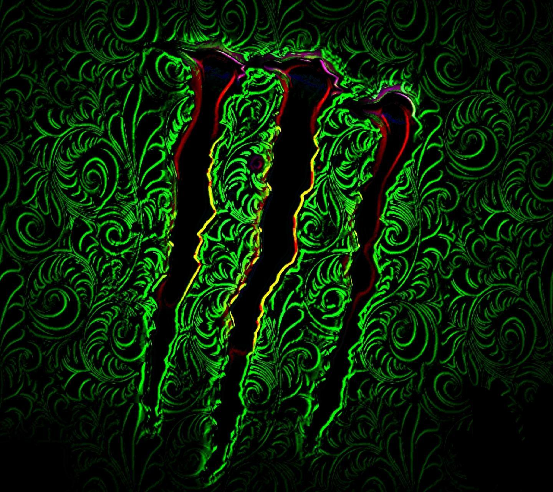 GALLERY Red Monster Logo Wallpaper 1440x1280