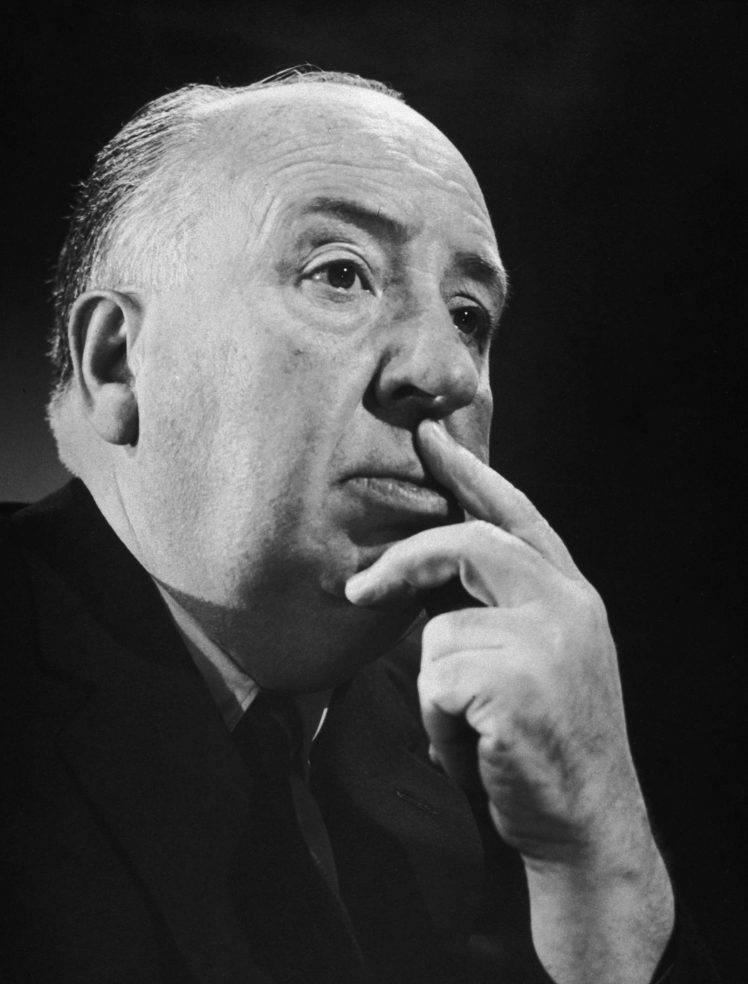 men film directors alfred hitchcock monochrome portrait suits 748x984